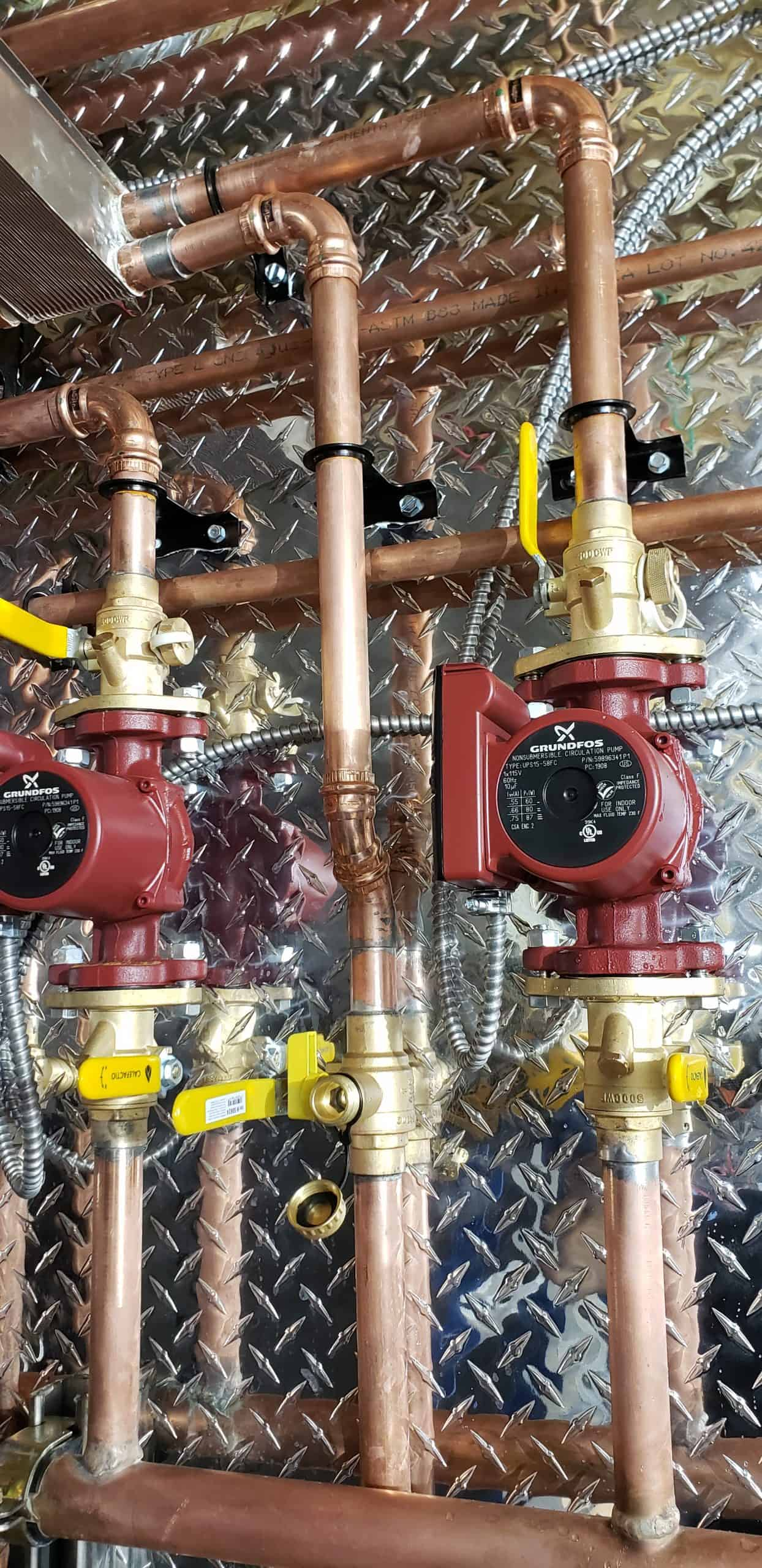 radiant heating circulator pumps