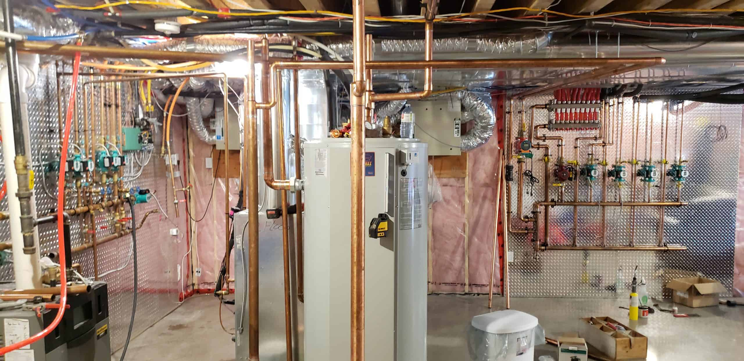 Indirect heater connections