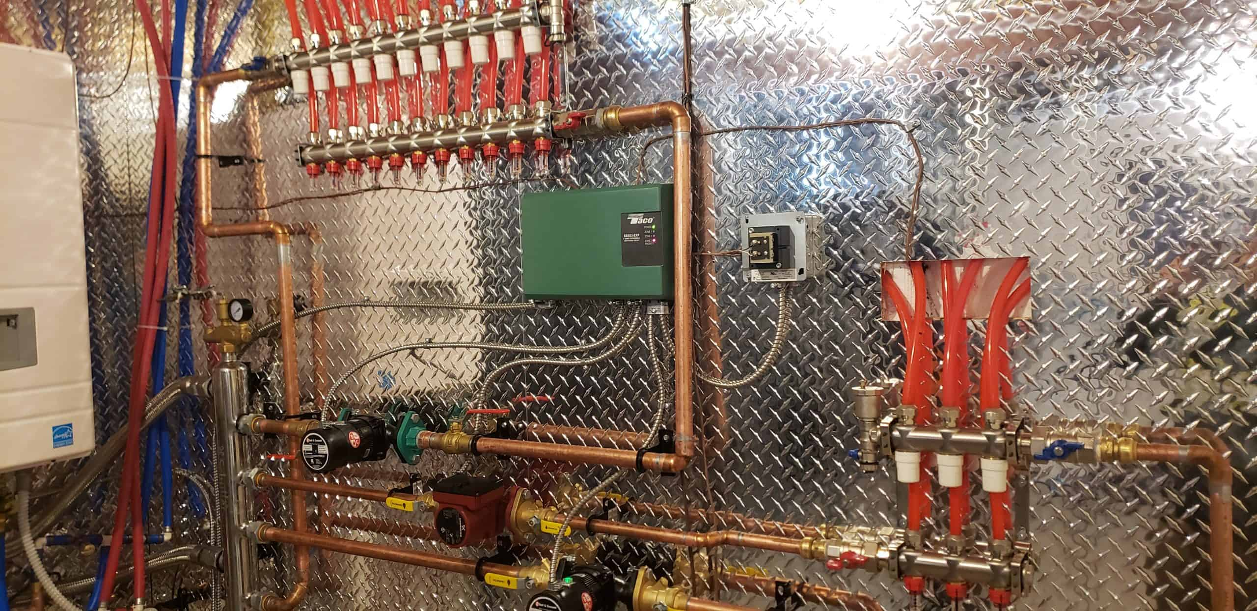 Manifolds and pumps are connected