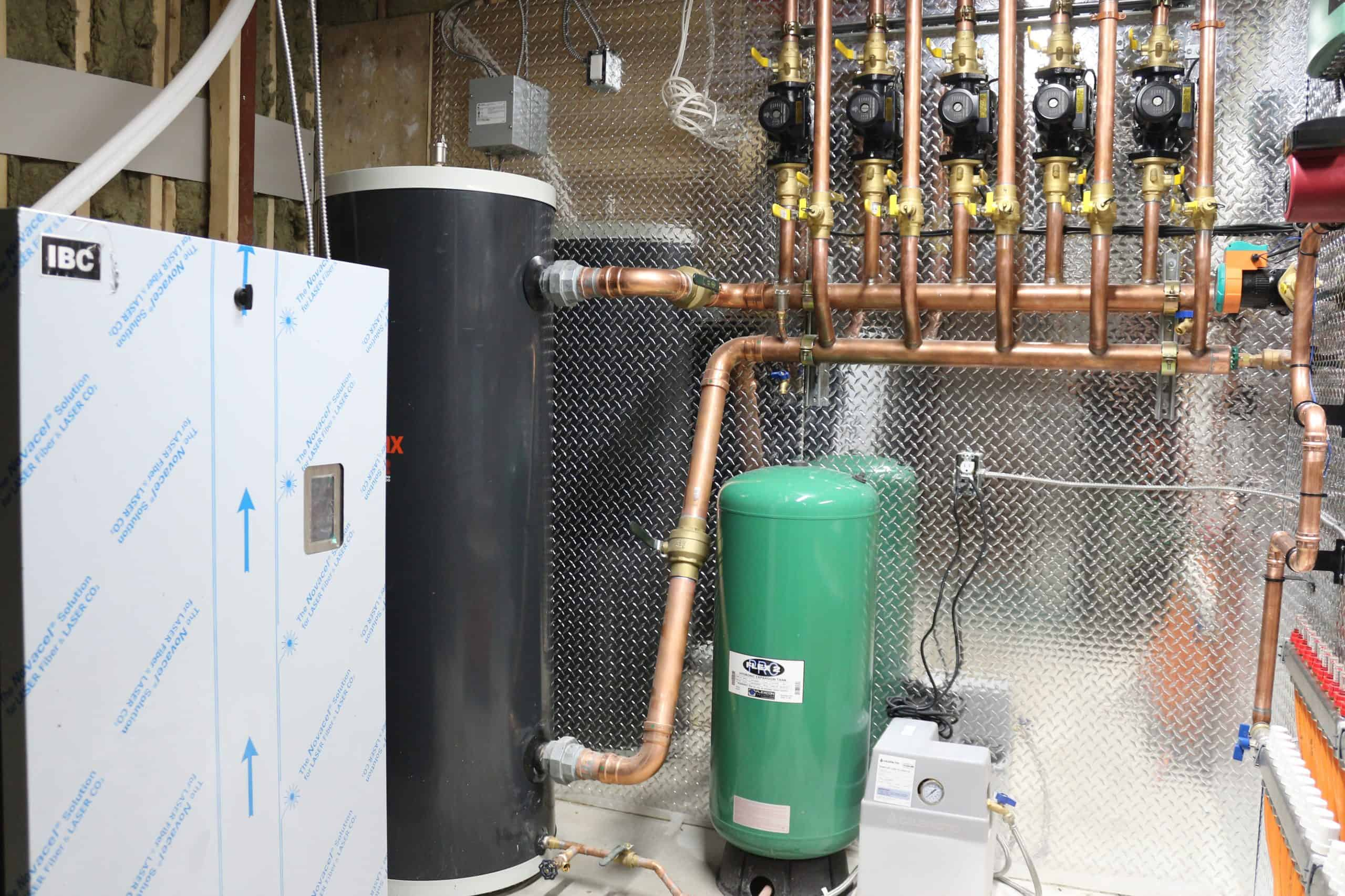 Boiler, buffer and expansion tanks