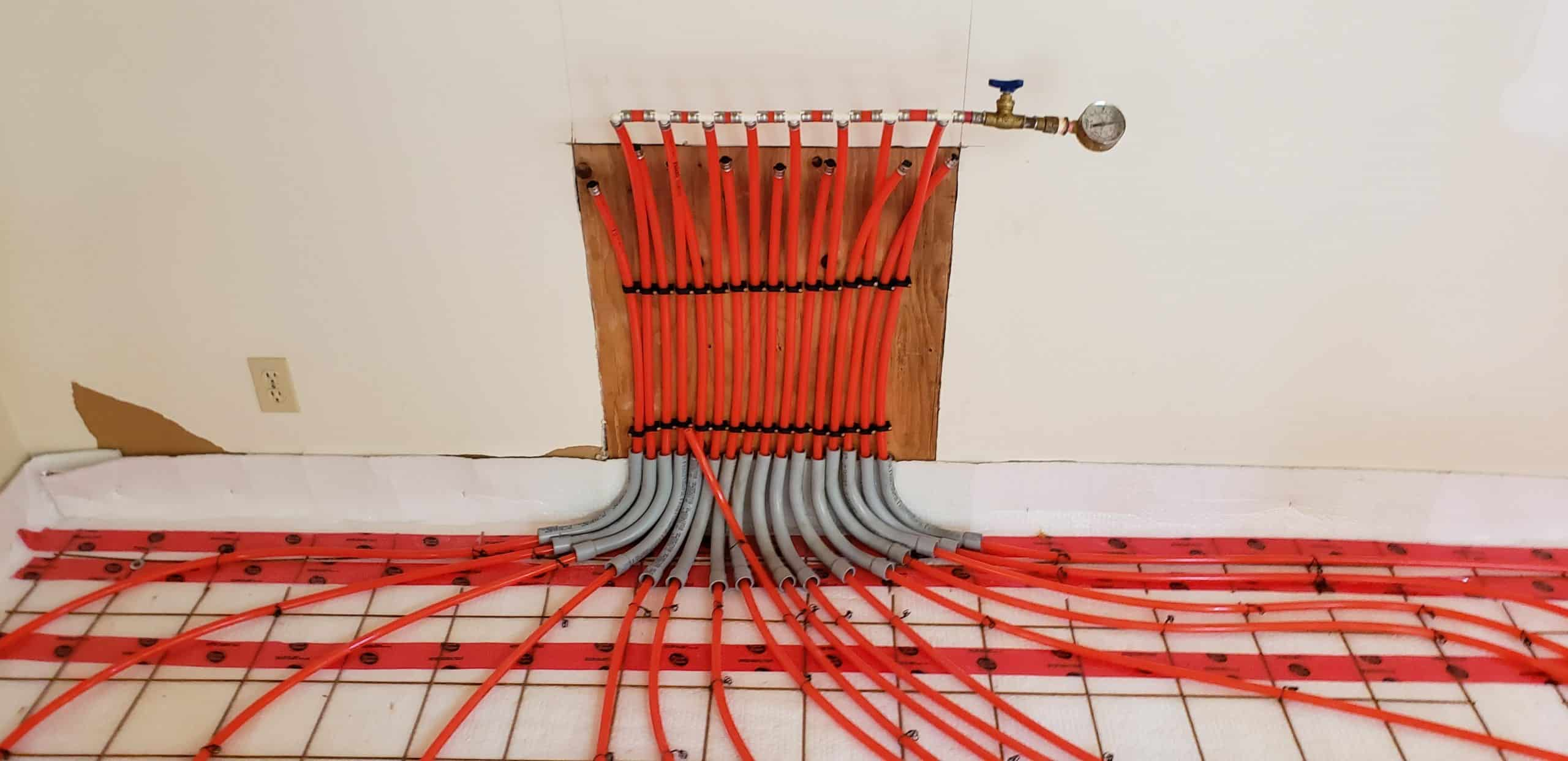 pipes on wire mesh pressurized
